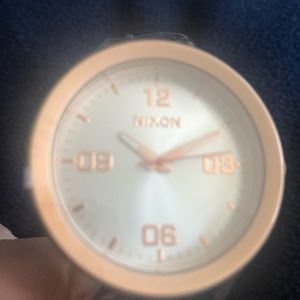 Nixon GI nylon watch rose tone/navy